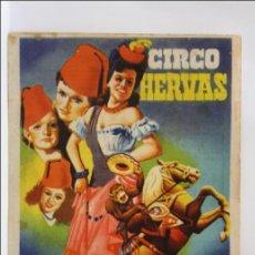 Coleccionismo de carteles: ANTIGUO CARTEL PEQUEÑO O FOLLETO DEL CIRCO HERVÁS - REUS - MEDIDAS 17 X 12 CM. Lote 43529296