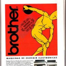 Colecionismo de cartazes: PUBLICIDAD ORIGINAL - MAQUINAS ESCRIBIR BROTHER - JUEGOS OLIMPICOS 1992 BARCELONA - OLIMPIADAS. Lote 43534716