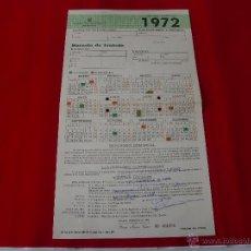 Coleccionismo de carteles: CALENDARIO LABORAL ALMERIA 1972. Lote 43605801