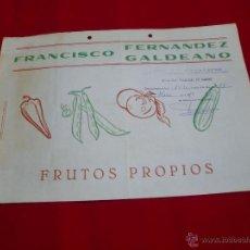 Coleccionismo de carteles: ALMERIA FRANCISCO FERNANDEZ GALDEANO AÑO 1979. Lote 43606148