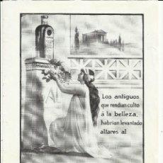Coleccionismo de carteles: J55-CURIOSA LAMINA PUBLICITARIA PETROLEO GAL PARA EL CABELLO.EN REVERSO LAMINA RAMBAL DE LAS FLORES . Lote 43702005