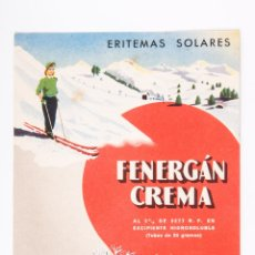 Coleccionismo de carteles: CARTEL DE PAPEL MEDICAMENTO FENERGAN, LABORATORIO SPECIA DE MADRID. Lote 43777672