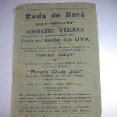 Coleccionismo de carteles: PROGRAMA DE RODA DE BARA 31-12-1948.. Lote 43798938