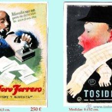 Coleccionismo de carteles: REY PADILLA, SEBASTIAN, BOCETOS ORIGINALES,CARTULINA -ACUARELA DE PUBLICIDAD LABORATORIOS. FIRMADOS.. Lote 44096303