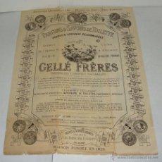 Coleccionismo de carteles: CARTEL PUBLICITARIO DE PERFUME Y JABÓN. EXPOSICIÓN UNIVERSAL DE PARIS - 1889. Lote 44284692