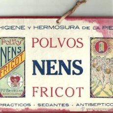 Coleccionismo de carteles: CARTEL PEQUEÑO: POLVOS NENS FRICOT - HIGIENE Y HERMOSURA DE LA PIEL. AÑOS 20. MEDIDAS: 22,5 X 17 CM.. Lote 44374755