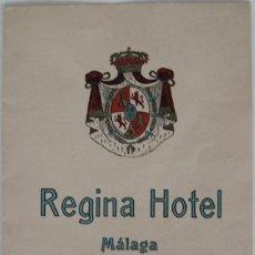 Coleccionismo de carteles: HOTEL REGINA DE MALAGA PROSPECTO DEL CONCIERTO Y LA CENA CELEBRADA EN 1911. Lote 195526165