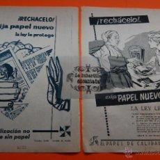 Coleccionismo de carteles: PUBLICIDAD REVISTA AÑO 1954-55 - RECUERDAN CUANDO NOS ENVOLVIAN EN PAPEL DE PERIODICO LA COMIDA EN . Lote 45102173