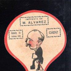 Coleccionismo de carteles: PAYPAY PUBLICITARIO,IMPRENTA ALVAREZ,CÁDIZ,MUY BONITO,ORIGINAL,BUEN TAMAÑO,VER LA FOTO. Lote 45239154
