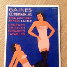 Coleccionismo de carteles: IDEAL LASTIC, CARTEL DISPLAY PUBLICIDAD ROPA INTERIOR FEMENINA, AÑOS 30-40 ORIGINAL FRANCÉS. Lote 45299200