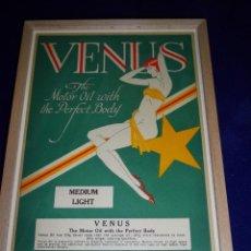 Coleccionismo de carteles: RARO CARTEL BELLISIMA LITOGRAFIA ORIGINAL 1929 USA ACEITE VENUS PIN UP ART DECO MODERNISTA. Lote 45358713