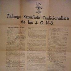 Coleccionismo de carteles: MANIFESTO DE LA FALANGE. Lote 45459699