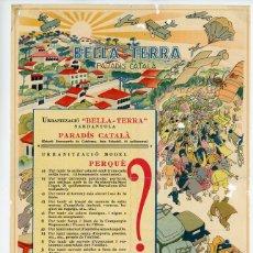 Coleccionismo de carteles: BELLA-TERRA, PUBLICIDAD DIBUJOS CASTANYS. Lote 45537239