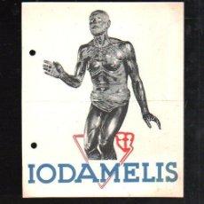 Coleccionismo de carteles: CARTEL PUBLICITARIO. IODAMELIS. LABORATORIOS E.BOIZOT, MADRID. 14 X 17CM. VER FOTOS. Lote 45622300