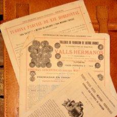 Coleccionismo de carteles: VALLS HERMANOS, S.XIX LOTE PUBLICIDAD, 3 FOLLETOS. 1891 VALLS,BARCELONA. -DOCD-. Lote 45748637