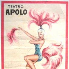 Coleccionismo de carteles: CARTEL DE PAPEL PUBLICIDAD DEL TEATRO APOLO. L.G. FERRE OLSINA. Lote 45802845