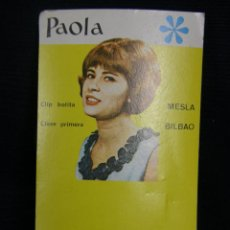Coleccionismo de carteles: CARTEL PEQUEÑO PUBLICIDAD PENDIENTES PAOLA CLIP BOLITA MESLA BILBAO AÑOS 60 11,5X6,8CMS. Lote 45866456