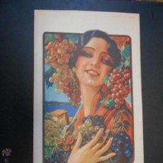 Coleccionismo de carteles: CARTEL LITOGRAFICO EN CARTON - ESTILO MODERNISTA. Lote 46142176