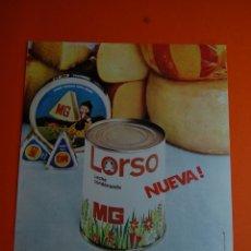 Coleccionismo de carteles: PUBLICIDAD - 1968 - COLECCION MG - LECHE CONDENSADA LORSO. Lote 46157506