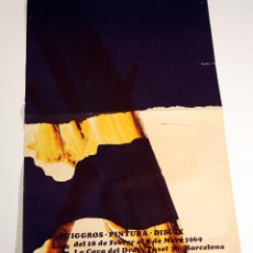 Coleccionismo de carteles: CARTEL EXPOSICIÓN DE PUIGGROS LA COVA DEL DRAC 1969. Lote 46168969