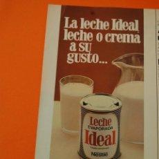 Coleccionismo de carteles: PUBLICIDAD - 1980 - COLECCION NESTLE - LECHE CONDENSADA IDEAL. Lote 46234684