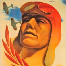 Coleccionismo de carteles: GUERRA CIVIL. LÁMINA DEL CARTEL -AVIACIÓN REPUBLICANA- TAMAÑO A3. Lote 146312289