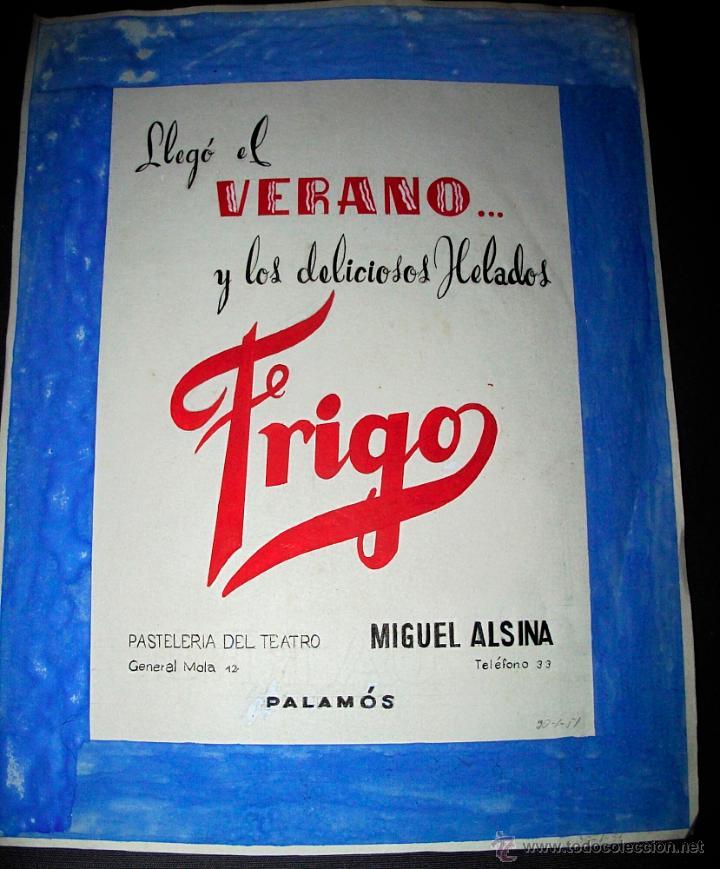 Dibujo original maqueta publicidad frigo p comprar - Frigo pequeno ...