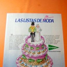 Coleccionismo de carteles: PUBLICIDAD 1985 - COLECCION ROPA - EL CORTE INGLES. Lote 46561876