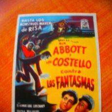 Colecionismo de cartazes: FOLLETO DE MANO PROGRAMA PROSPECTO DE CINE PELICULA , CONTRA LOS FANTASMAS. Lote 144504152