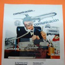 Coleccionismo de carteles: PUBLICIDAD 1970 - COLECCION MEDICAMENTOS - BAYER CAFIASPIRINA. Lote 46739580