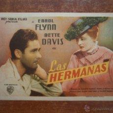Colecionismo de cartazes: FOLLETO DE MANO PROGRAMA PROSPECTO DE CINE PELICULA , LAS HERMANAS. Lote 46741879