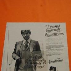 Coleccionismo de carteles: PUBLICIDAD 1978 - COLECCION ROPA - TRAJES EMIDIO TUCCI EL CORTE INGLES. Lote 47019869