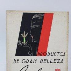 Coleccionismo de carteles: CARTEL PRODUCTOS DE GRAN BELLEZA RELY. PARIS. INSTITUT DE BEAUTÉ. AÑOS 50.. Lote 47078654