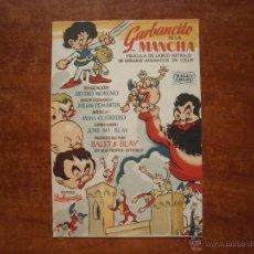 Colecionismo de cartazes: FOLLETO DE MANO PROGRAMA PROSPECTO DE CINE PELICULA , GARBANCITO DE LA MANCHA. Lote 47093169