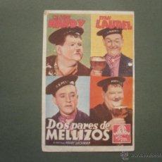 Collezionismo di affissi: FOLLETO DE MANO PROGRAMA PROSPECTO DE CINE PELICULA , DOS PARES DE MELLIZOS , OLIVER HARDY Y LAUREL. Lote 47129394