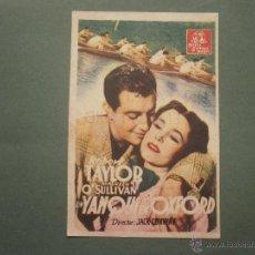 Colecionismo de cartazes: FOLLETO DE MANO PROGRAMA PROSPECTO DE CINE PELICULA , UN YANQUI EN OXFORD. Lote 47129408