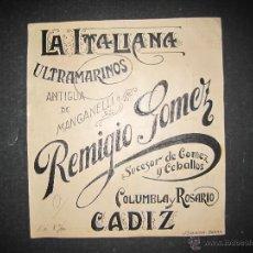 Coleccionismo de carteles: CADIZ - REMIGIO GOMEZ - ORIGINAL PUBLICIDAD - ( V-1794). Lote 47240192