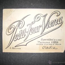 Coleccionismo de carteles: CADIZ - J.DOCENA - ORIGINAL PUBLICIDAD - ( V-1802). Lote 47240367
