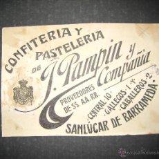 Coleccionismo de carteles: CADIZ - PAMPIN - ORIGINAL PUBLICIDAD - ( V-1808). Lote 47240472