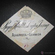 Coleccionismo de carteles: GRANADA - HOTEL WASHINGTON - ORIGINAL PUBLICIDAD - ( V-1833). Lote 47240916