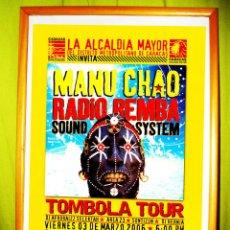 Coleccionismo de carteles: CARTEL DE CONCIERTO DE - MANU CHAO -RADIO MEMBA. EN CARACAS . TOMBOLA TOUR 2006. Lote 47392170