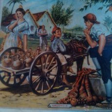Coleccionismo de carteles: ANTIGUO CARTEL VALENCIA ESCENA VALENCIA ILUSTRACION DIBUJO 37 X 36 CM. Lote 47392990