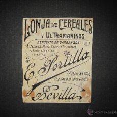 Coleccionismo de carteles: SEVILLA - PORTILLA - ORIGINAL PUBLICIDAD - ( V-1952). Lote 47474074