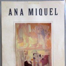 Coleccionismo de carteles: ANA MIQUEL GALERÍA LLEONART BARCELONA 1984. Lote 47713694