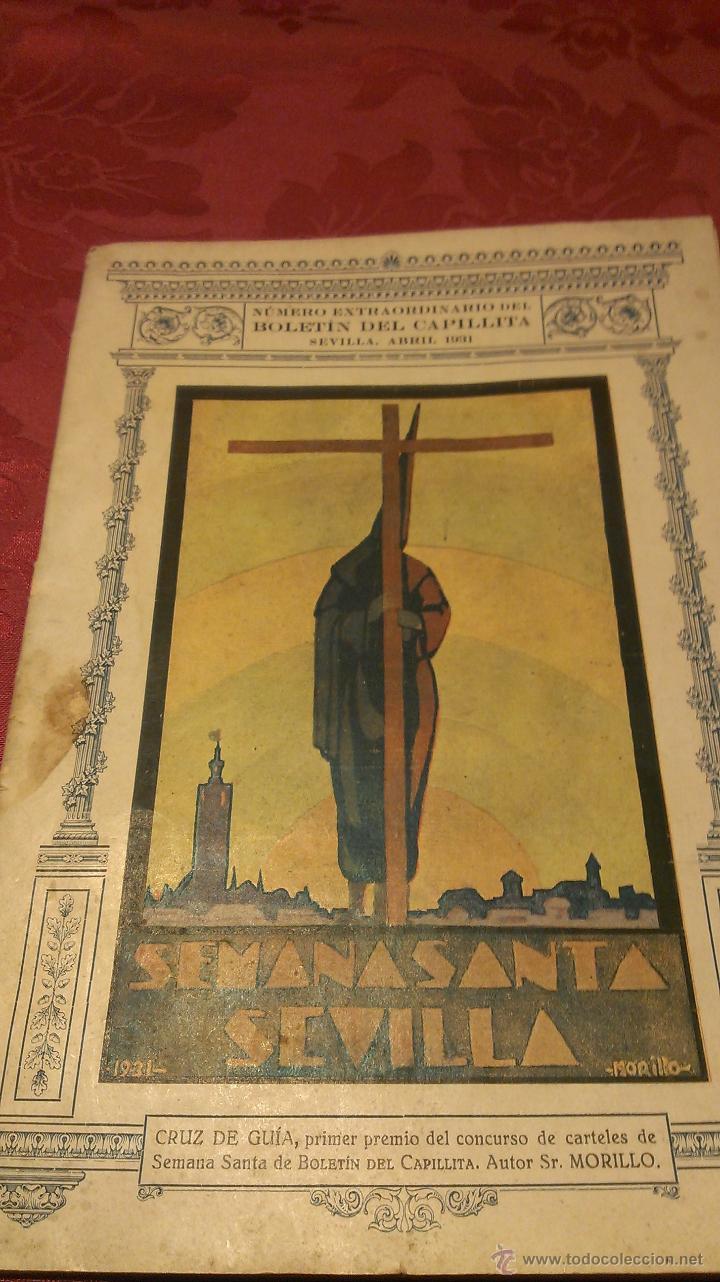 FOLLETO SEMANA SANTA SEVILLA 1931 (Coleccionismo - Carteles Pequeño Formato)