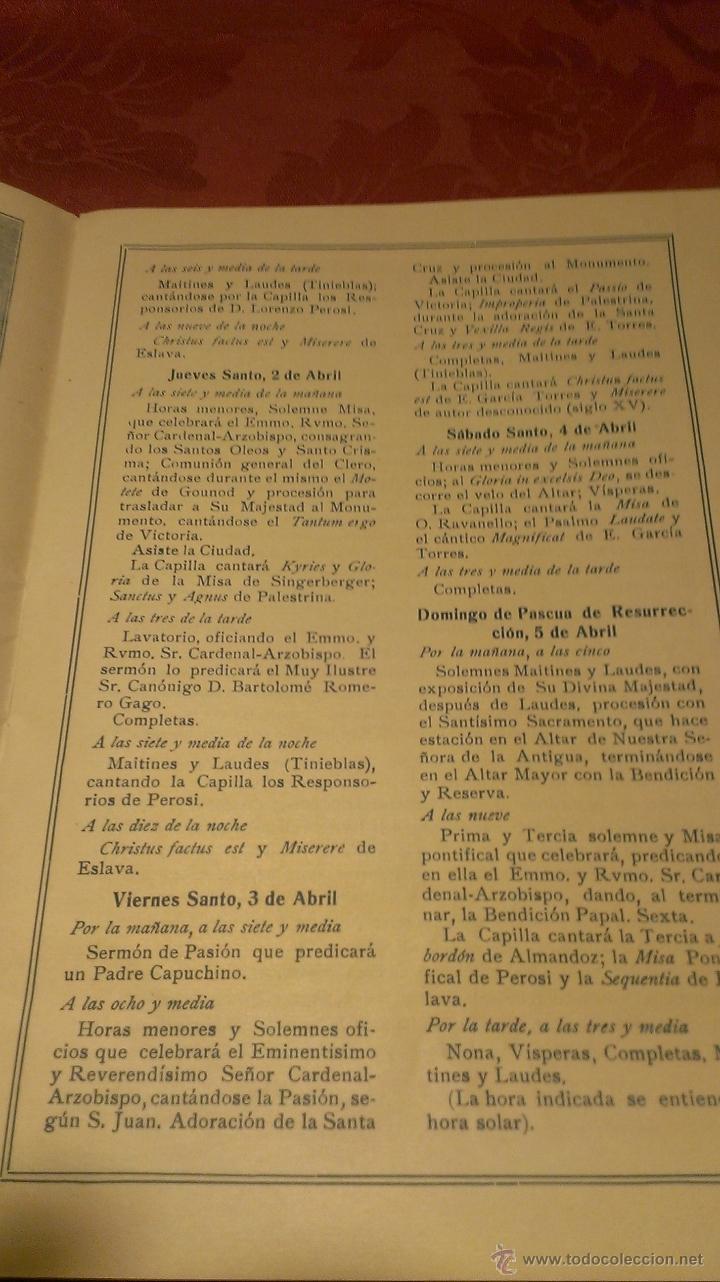 Coleccionismo de carteles: Folleto Semana Santa Sevilla 1931 - Foto 2 - 47877070