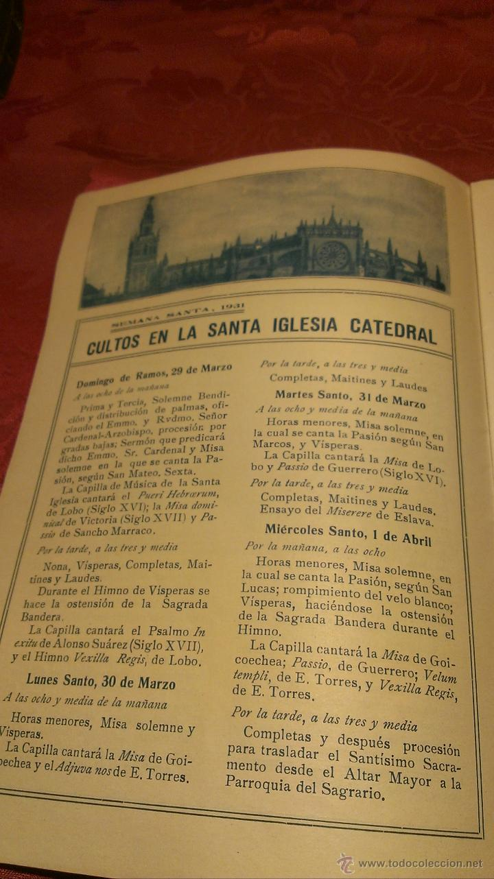 Coleccionismo de carteles: Folleto Semana Santa Sevilla 1931 - Foto 3 - 47877070