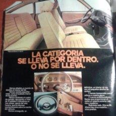 Coleccionismo de carteles: ANUNCIO PUBLICITARIO CITROËN GS 1977. Lote 47882590