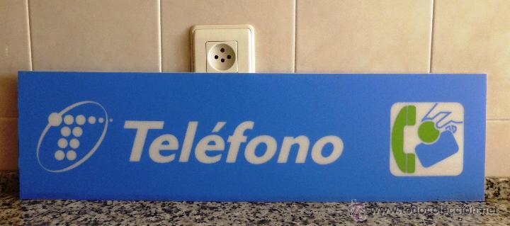 CARTEL DE CABINA TELEFÓNICA ESPAÑA,PROCEDE DEL DESMONTAJE DE CABINA DE TELÉFONO OBSOLETA. (Coleccionismo - Carteles Pequeño Formato)