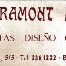 Coleccionismo de carteles: CARTEL PUBLICIDAD DECORACION CARTON GRAMONT HUMA ETIQUETAS DISEÑO GRAFICO. MODERNISTA. BARCELONA. . Lote 48053461
